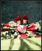 My Shiny Red Shoes by miades