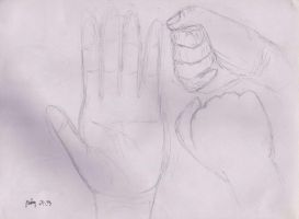 Sketches of hands by Prom15e13elieve10ve