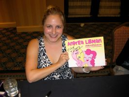 Andrea Libman and Her Autographed Pic by Urvy1A