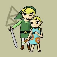 WW Fanart 6: Link and Aryll by Mangakid92