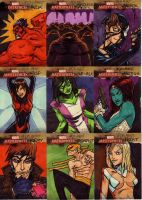 marvel sketch cards 97to105b by anjinanhut