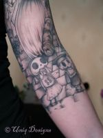 Corpse Bride Tattoo detail by Moon-Q