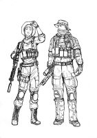 BF4 USMC Recon class (line art) by i-am-thomas