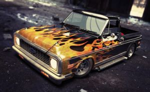 1972 chevy c10 by xtrm3d
