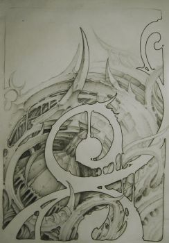 biomechanical sketch. by sideusz