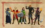 Dungeons and Dragons - The Gang by TovarasNightroad
