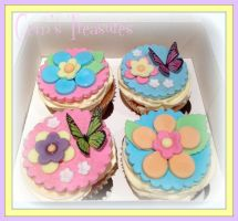 Garden Party Cupcakes by gertygetsgangster
