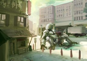 City and Mech practice by JordyLakiere