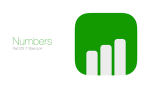 Numbers Flat iOS 7 Style Icon by osullivanluke