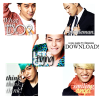 BIGBANG - ICON PACK 1 by Ekumimi