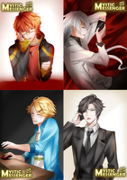 Mystic Messenger sketches compilation by yuuike