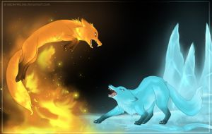 Fire VS Ice by FantaTara
