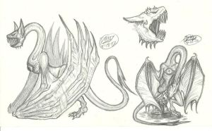 Creature Sketches 3 by RoomsInTheWalls