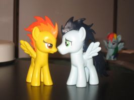 Custom Spitfire and Soarin.........in love? by AleximusPrime