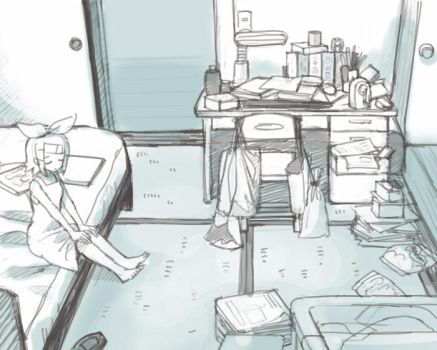 messy room by grimay
