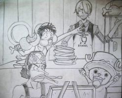 luffy and his gang by bhappa