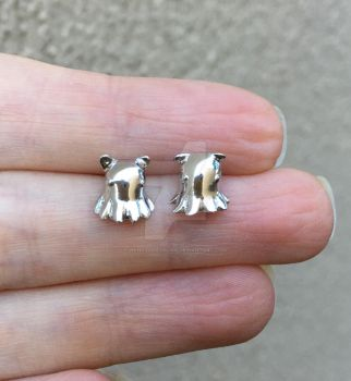 Tiny Dumbo Octopus Earrings  by WendysArtwork