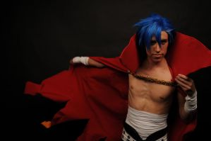 Brush the dangerous- Kamina cosplay by Detailed-Illusion