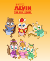 Baby Chipmunks (and Chipettes) Poster by Bokeol