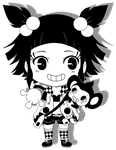 Steamboat Chibi feat. Velvet and Aipom by pixelpoe