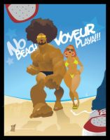 NO Beach Voyeur Playa by braeonArt