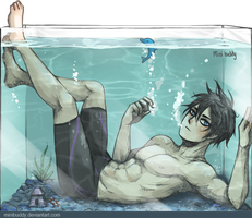 Haruka in The Fish Tank -Free! by minibuddy