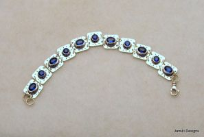 Kyanite and Sterling Linked Bracelet by Janski-Designs