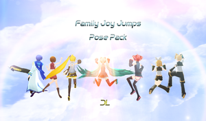 MMD - Family Joy Jump Pose DL by 1KaitoShion