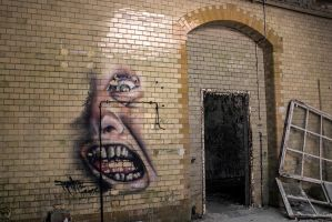 13-06 Graffiti Face 2 by evionn