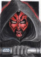 Star Wars G6 - Darth Maul Sketch Art Card by DenaeFrazierStudios