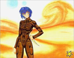 Rei Ayanami as Fremen Warrior by ZiemosPendric