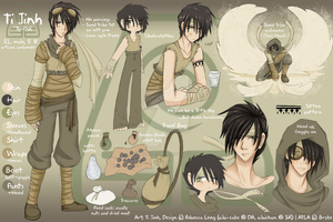 ATLA - Ti Jinh Reference Sheet by Ai-Bee