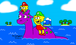 Riding Nessie by MarioSimpson1
