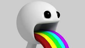 Puking Rainbow by VERTEX768MHz