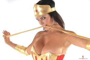 Denise Milani WonderWoman by k1ngxx