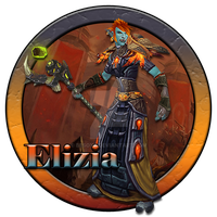 Elizia Warcraft Character Button by BesoYT