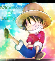 luffy chibi by lurinzoo