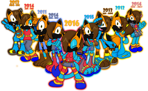 Matthew Lightningfox 2011 - 2016 by MattMiles