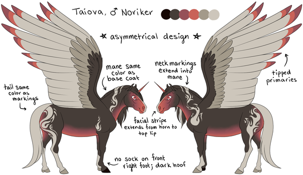 Taiova Reference by KazultheDragon