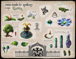 The Fernlings - Apothecary Garden (Callout Sheet) by Lyraina