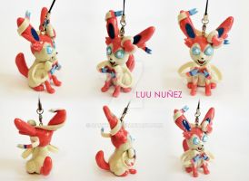 VIDEO TUTORIAL - Sylveon polymer clay by DarkyLu