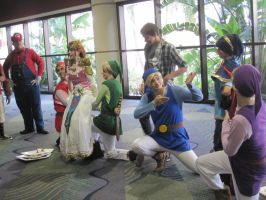 Links, Zelda and Marth at MegaCon by deadpool24