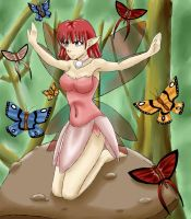 Fairy and Butterflies by SweetxSnowxDream