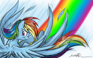 Rainbow Dash Birthday Present by JaDeDJynX
