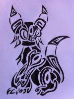 Tribal Umbreon by AwyrSente