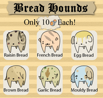 [ADOPTABLE] Bread Hounds by Rooboid