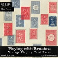 Vintage Playing card Backs Photoshop Brushes by duggar