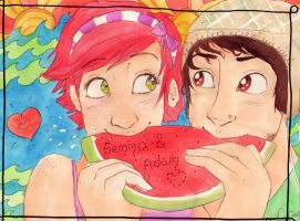 Watermelon by halogirl692
