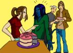who eat the bday cake by bluenique