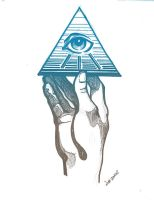holding the all seeing eye by O-b-s-e-r-v-e-R